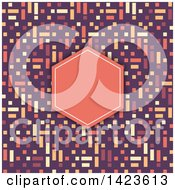 Clipart Of A Retro Geometric Invitation Background Royalty Free Vector Illustration