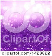 Clipart Of A Festive Purple Glitter Background Royalty Free Illustration