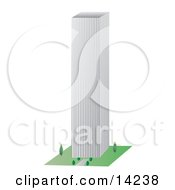 Tall City Building Clipart Illustration