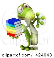 Clipart Of A 3d Green Gecko Lizard On A White Background Royalty Free Illustration