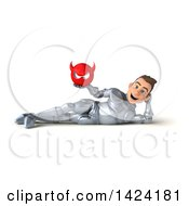 Clipart Of A 3d Caucasian Male Armored Knight On A White Background Royalty Free Illustration