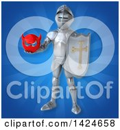 Clipart Of A 3d Armored Knight Royalty Free Illustration