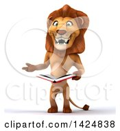 3d Male Lion On A White Background
