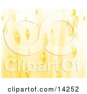 Yellow Business People Or Souls Heading To Heaven Clipart Illustration