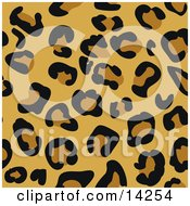 Leopard Cheetah Or Jaguar Animal Print Background With Brown And Tan Rosette Patterns Clipart Illustration