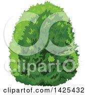 Clipart Of A Lush Green Bush Royalty Free Vector Illustration by Pushkin