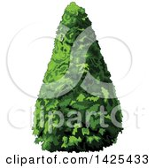 Clipart Of A Pyramidical Shaped Shrub Or Tree Royalty Free Vector Illustration by Pushkin