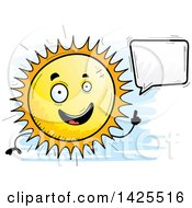 Clipart Of A Cartoon Doodled Talking Sun Character Royalty Free Vector Illustration by Cory Thoman