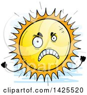 Clipart Of A Cartoon Doodled Mad Sun Character Royalty Free Vector Illustration by Cory Thoman