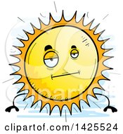 Clipart Of A Cartoon Doodled Bored Sun Character Royalty Free Vector Illustration by Cory Thoman