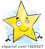 Clipart Of A Cartoon Doodled Star Character Royalty Free Vector Illustration