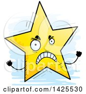 Clipart Of A Cartoon Doodled Mad Star Character Royalty Free Vector Illustration by Cory Thoman