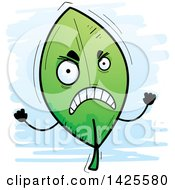 Clipart Of A Cartoon Doodled Mad Leaf Character Royalty Free Vector Illustration by Cory Thoman