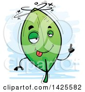 Clipart Of A Cartoon Doodled Drunk Leaf Character Royalty Free Vector Illustration by Cory Thoman