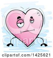Cartoon Doodled Bored Heart Character