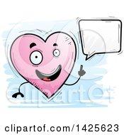 Cartoon Doodled Talking Heart Character