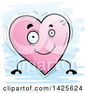 Clipart Of A Cartoon Doodled Heart Character Royalty Free Vector Illustration