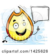Cartoon Doodled Talking Flame Character