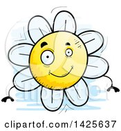 Clipart Of A Cartoon Doodled Flower Character Royalty Free Vector Illustration
