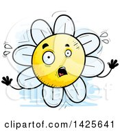 Clipart Of A Cartoon Doodled Scared Flower Character Royalty Free Vector Illustration by Cory Thoman