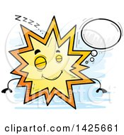 Clipart Of A Cartoon Doodled Dreaming Explosion Character Royalty Free Vector Illustration by Cory Thoman
