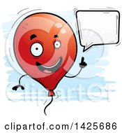 Clipart Of A Cartoon Doodled Talking Balloon Character Royalty Free Vector Illustration by Cory Thoman