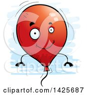 Clipart Of A Cartoon Doodled Balloon Character Royalty Free Vector Illustration by Cory Thoman