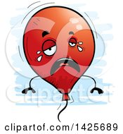Clipart Of A Cartoon Doodled Crying Balloon Character Royalty Free Vector Illustration by Cory Thoman