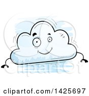 Clipart Of A Cartoon Doodled Cloud Character Royalty Free Vector Illustration