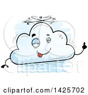 Cartoon Doodled Drunk Cloud Character