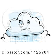 Cartoon Doodled Bored Cloud Character