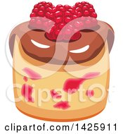 Clipart Of A Cupcake With Raspberries Royalty Free Vector Illustration by Vector Tradition SM