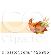 Thanksgiving Banner With A Cornucopia