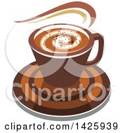 Clipart Of A Hot Latte Coffee Royalty Free Vector Illustration