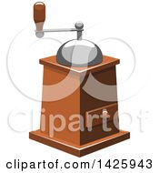 Clipart Of A Coffee Grinder Royalty Free Vector Illustration
