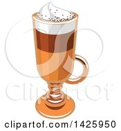 Clipart Of A Coffee Macchiato Royalty Free Vector Illustration