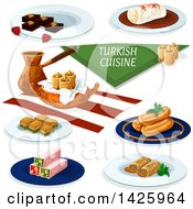 Table Set With Turkish Cuisine