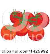 Clipart Of Tomatoes Royalty Free Vector Illustration by Vector Tradition SM