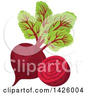 Clipart Of A Beet Royalty Free Vector Illustration