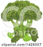 Clipart Of A Bunch Of Broccoli Royalty Free Vector Illustration by Vector Tradition SM