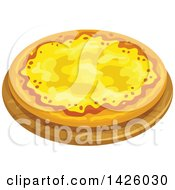 Clipart Of A Cheese Ai Quattro Formaggi Pizza Royalty Free Vector Illustration by Vector Tradition SM