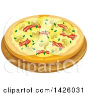 Clipart Of A Pizza Veronese Royalty Free Vector Illustration by Vector Tradition SM