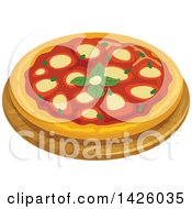 Clipart Of A Pizza Napoletana Royalty Free Vector Illustration by Vector Tradition SM