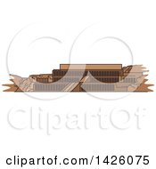 Clipart Of A Line Drawing Styled Egyptian Landmark Deir El Bahari Royalty Free Vector Illustration by Vector Tradition SM