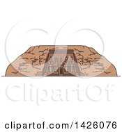 Clipart Of A Line Drawing Styled Egyptian Landmark Abu Simbel Royalty Free Vector Illustration by Vector Tradition SM