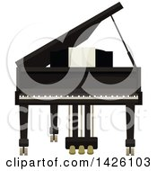 Clipart Of A Grand Piano Royalty Free Vector Illustration by Vector Tradition SM
