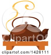 Poster, Art Print Of Japanese Ta Pot With A Cup On A Tray