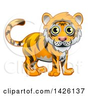 Clipart Of A Cute Tiger Royalty Free Vector Illustration
