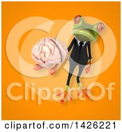 3d Green Business Springer Frog