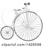 Clipart Of A Penny Farthing Bike Royalty Free Vector Illustration by Alex Bannykh